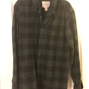 St John's Bay flannel plaid shirt